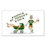 Happy St. Patrick's Day Rectangle Sticker