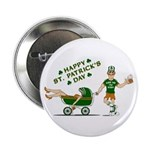 """Happy St. Patrick's Day 2.25"""" Button (100 pack)"""