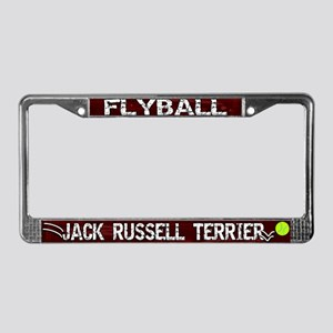 Flyball Jack Russell Terrier License Plate Frame