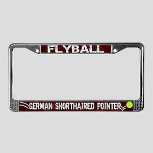 Flyball German Shorthair License Plate Frame