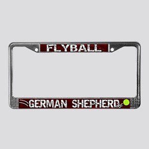 Flyball German Shepherd License Plate Frame