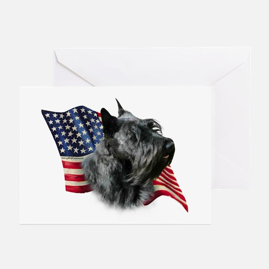 Scotty(blk) Fla Greeting Cards