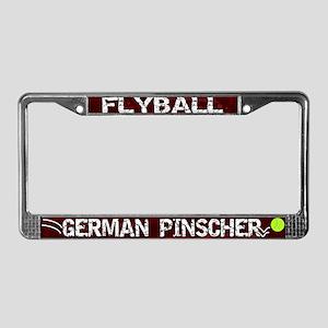 Flyball German Pinscher License Plate Frame