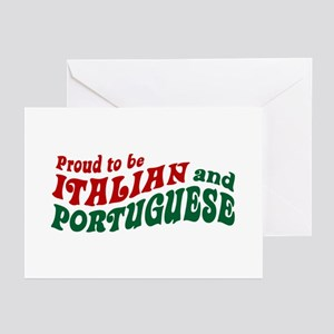 Proud Italian and Portuguese Greeting Cards (Pk of