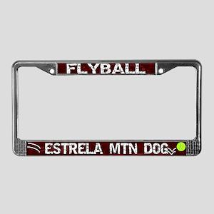 Flyball Estrela Mountain Dog License Plate Frame