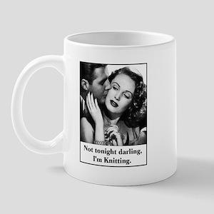 Not Tonight I'm Knitting Mug