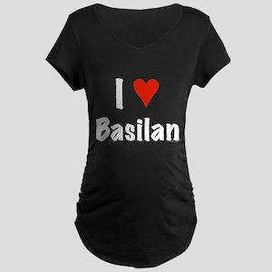 I love Basilan Maternity Dark T-Shirt