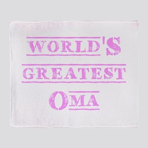 World's Greatest Oma Throw Blanket
