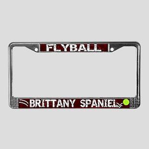 Flyball Brittany Spaniel License Plate Frame