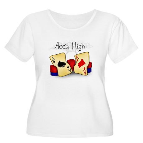 Aces High Women's Plus Size Scoop Neck T-Shirt