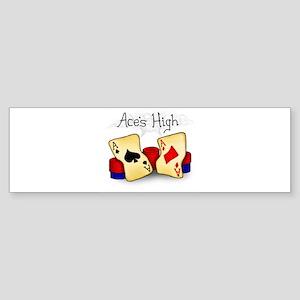 Aces High Bumper Sticker
