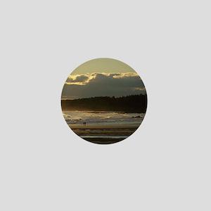 Lovers Walk On The Beach Mini Button
