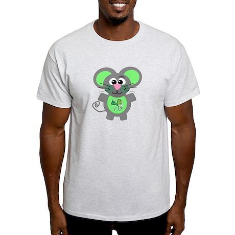 St. Patty's Day Shamrock Mouse Light T-Shirt
