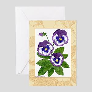 Purple Greeting Card