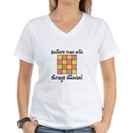 Quilters - Strings Attached Women's V-Neck T-Shirt
