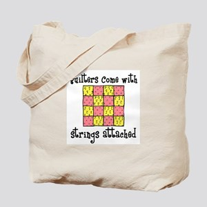 Quilters - Strings Attached Tote Bag