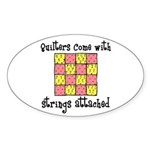 Quilters - Strings Attached Oval Sticker