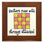 Quilters - Strings Attached Framed Tile