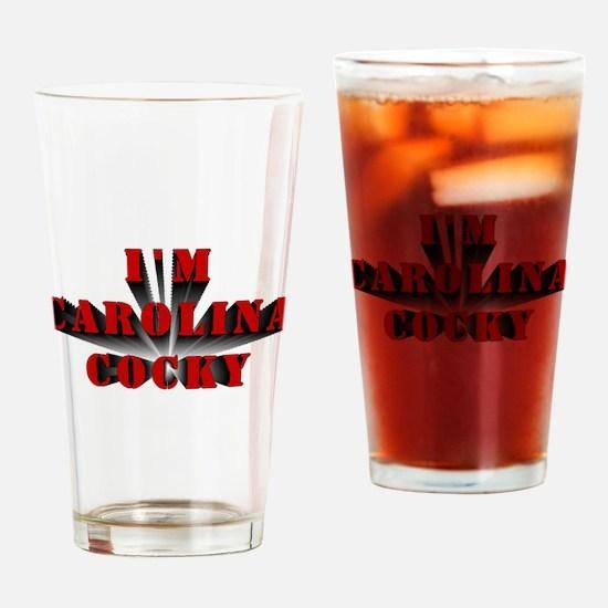 CAROLINA COCKY Drinking Glass