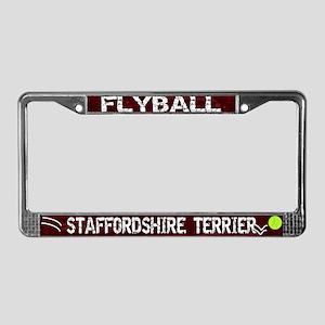 Flyball Staffordshire Terrier License Plate Frame