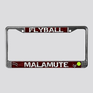 Flyball Malamute License Plate Frame