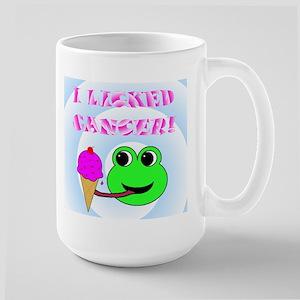 I LICKED CANCER Large Mug