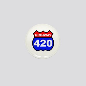 Highway 420 Mini Button