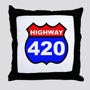 Highway 420 Throw Pillow