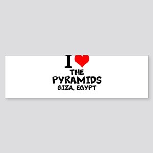 I Love The Pyramids, Giza, Egypt Bumper Sticker