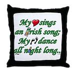 IRISH SONG Throw Pillow