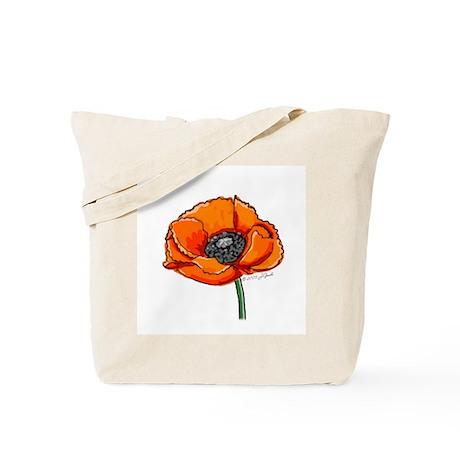Memorial Poppy Tote Bag