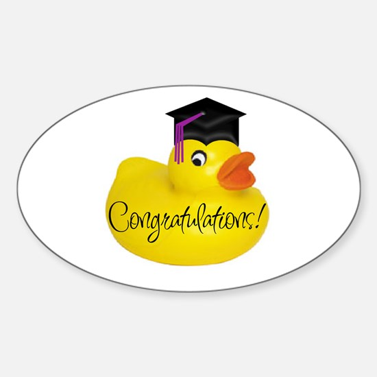 Ducky Congratulations! Oval Decal