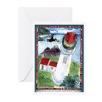Bird Watching @ Heceta Lighthouse Greeting Cards (