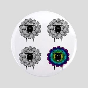 """Unique Sheep 3.5"""" Button"""