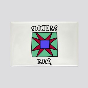 Quilters Rock Rectangle Magnet