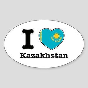 I love Kazakhstan Oval Sticker