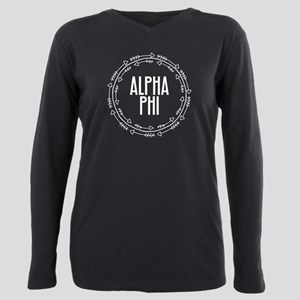 Alpha Phi Arrows Plus Size Long Sleeve Tee