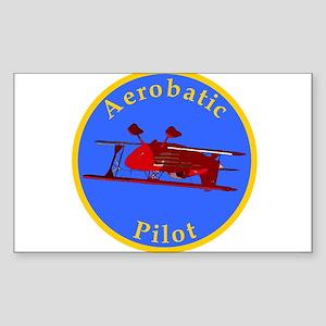 Aerobatic Pilot - Eagle Rectangle Sticker