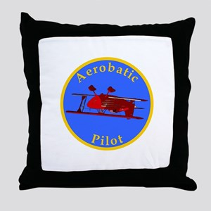 Aerobatic Pilot - Eagle Throw Pillow