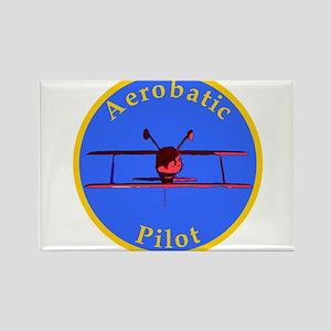 Aerobatic Pilot - Inverted Rectangle Magnet