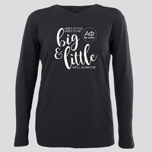 Alpha Phi Big Little Plus Size Long Sleeve Tee