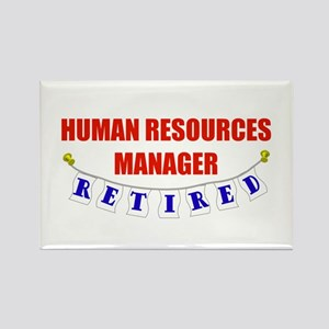 Retired Human Res. Mgr. Rectangle Magnet