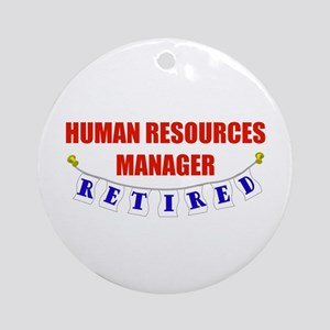 Retired Human Res. Mgr. Ornament (Round)