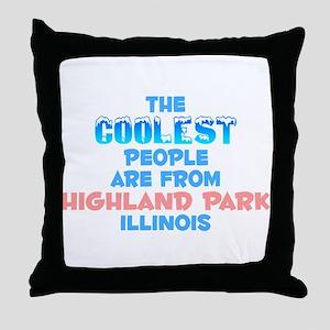 Coolest: Highland Park, IL Throw Pillow