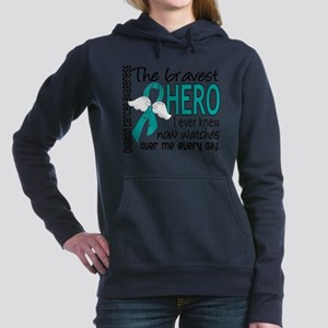 Bravest Hero I Knew Ovarian Cancer Sweatshirt
