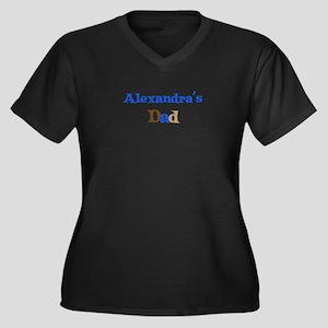 Alexandra's Dad Women's Plus Size V-Neck Dark T-Sh