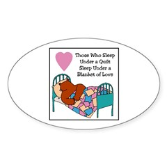 Quilt - Blanket of Love Oval Decal