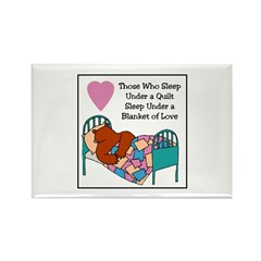 Quilt - Blanket of Love Rectangle Magnet (10 pack)
