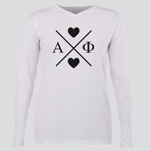 Alpha Phi Cross Plus Size Long Sleeve Tee
