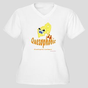 Quesophobic Women's Plus Size V-Neck T-Shirt